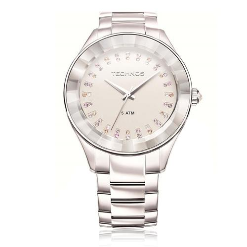 f2b0f6b2020 Relógio Feminino Technos Elegance 2035LTW 1K Cristais Swarovski