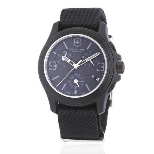 be0b6704814 Relógio Masculino VictorInox Analógico 241534 Preto com pulseira de Nylon
