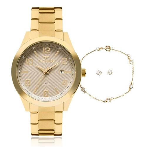 94fb7ad3aff Relógio Feminino Technos Trend 2115KZV K4C Dourado