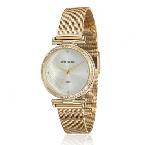 808fd40952c Relógio Feminino Mondaine Analógico 53552LPMVDE1 Dourado pulseira esteira