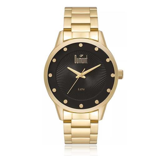 46fb92449618f Relógio Feminino Dumont London DU2036MFL 4D Dourado