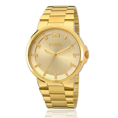 7c37637f222 Relógio Feminino Euro Colors Analógico EU2035YEE 4D Dourado