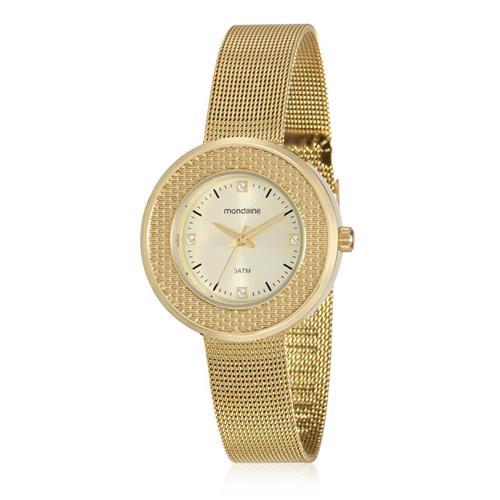 Relógio Feminino Mondaine Analógico 99219LPMVDE1 Dourado