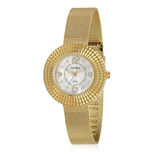 Relógio Feminino Mondaine Analógico 99218LPMVDE1 Dourado