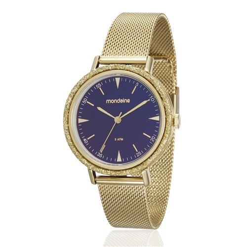 Relógio Feminino Mondaine Analógico 89001LPMVDE1 Dourado com cristais
