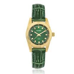 Relógio Feminino Mondaine Analógico 94086LPMVDR9 Dourado com verde