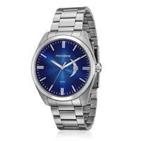 Relógio Masculino Mondaine Analógico 99001G0MVNA1 Aço com azul
