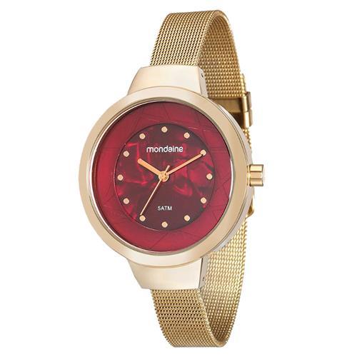 Relógio Feminino Mondaine Analógico 99052LPMVDE1 Dourado