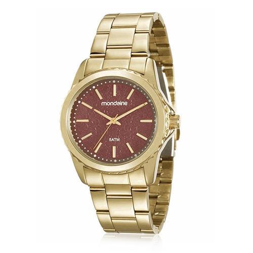 Relógio Feminino Mondaine Analógico 99077LPMVDE2 dourado