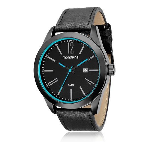 Relógio Masculino Mondaine Analógico 99080GPMVPH2 Detalhes azuis