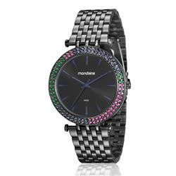 Relógio Feminino Mondaine Analógico 99095LPMVPE2 Aço Negro