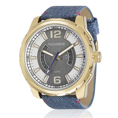 Relógio Masculino Mondaine Analógico 99090GPMVDH2 Jeans