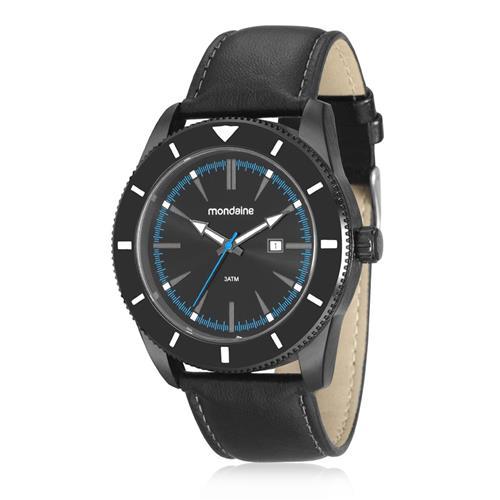 Relógio Masculino Mondaine Analógico 99091GPMVPH1 Aço Negro