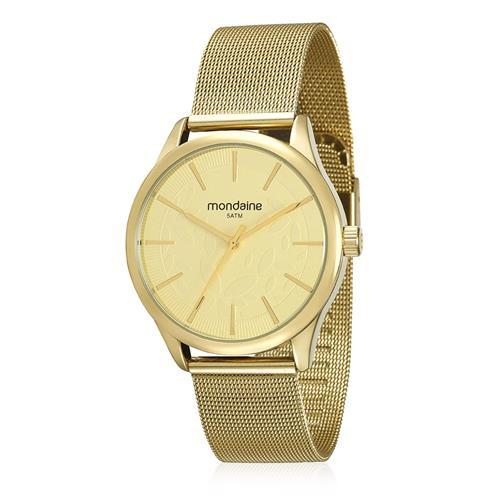 Relógio Feminino Mondaine Analógico 99123LPMVDE1 Dourado