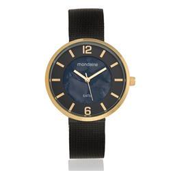 Relógio Feminino Mondaine Analógico 94876LPMVHE3 Aço Negro