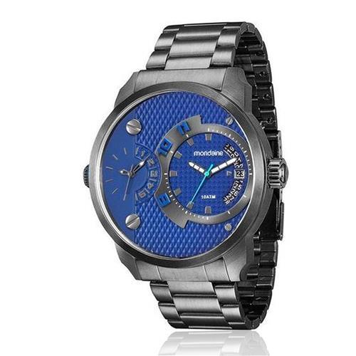 Relógio Masculino Mondaine Analógico 78527GPMVSA4 Aço Negro