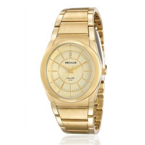 Relógio Feminino Seculus Long Life Analógico 23535LPSVDA1 Dourado