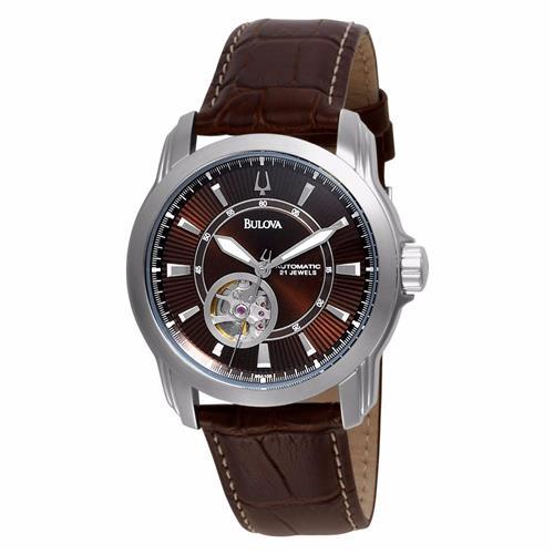6d6ce5093db Relógio Masculino Bulova Automatic WB21356D Couro Marrom