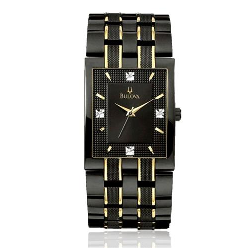 1dd73c87c54 Relógio Masculino Bulova Diamond WB21427P Aço Negro