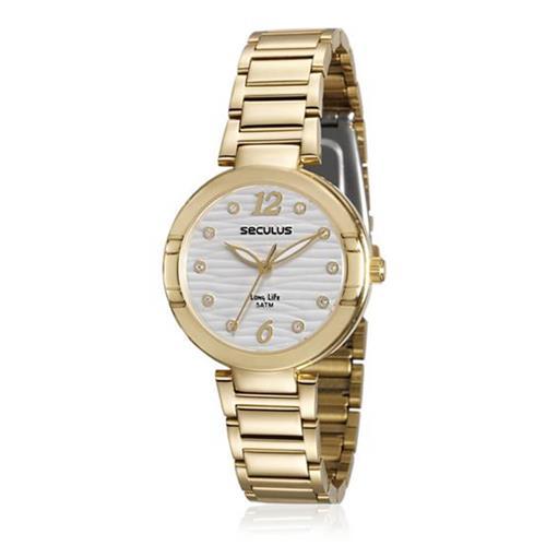 Relógio Feminino Seculus Long Life 23570LPSVDA1 Dourado