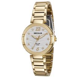 Relógio Feminino Seculus Long Life Ref 23570LPSVDA1 Dourado