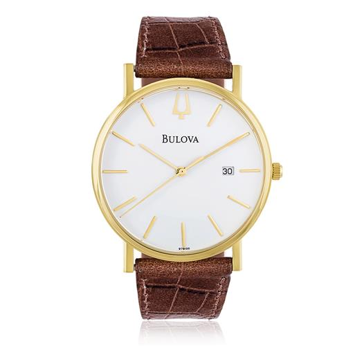 9db66cdc609 Relógio Masculino Bulova WB21687B Couro