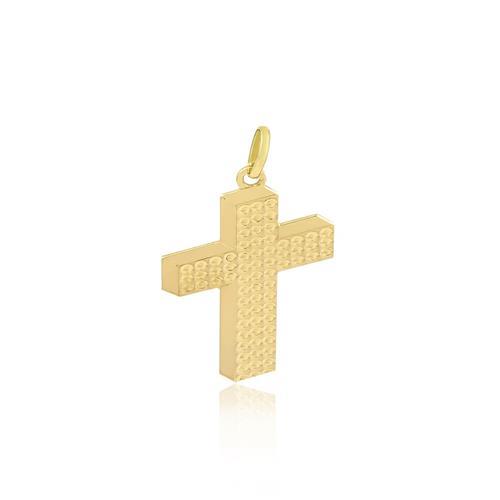 Pingente Cruz em Ouro Amarelo
