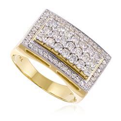 Anel com 61 Diamantes, em Ouro Amarelo
