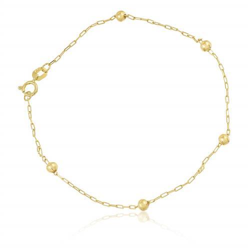 Pulseira Elos Cartier com Esferas em Ouro Amarelo