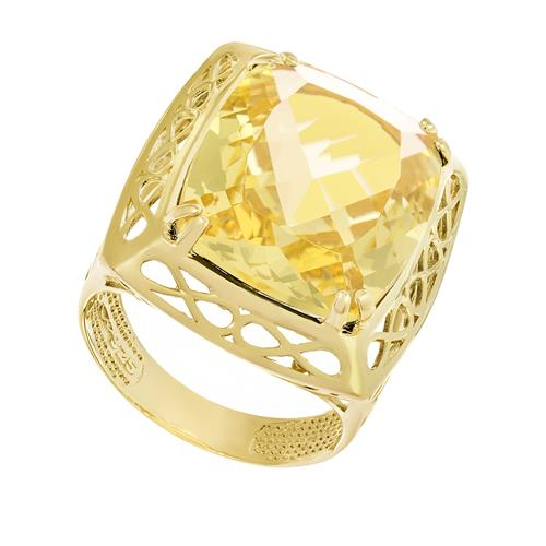 Anel Retangular Green Gold,  detalhes vazados