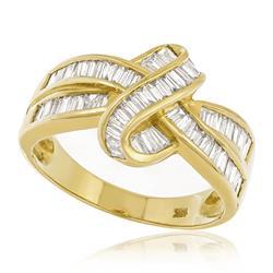 Anel Trabalhado com Diamantes totalizando 2,10 Cts., em Ouro Amarelo
