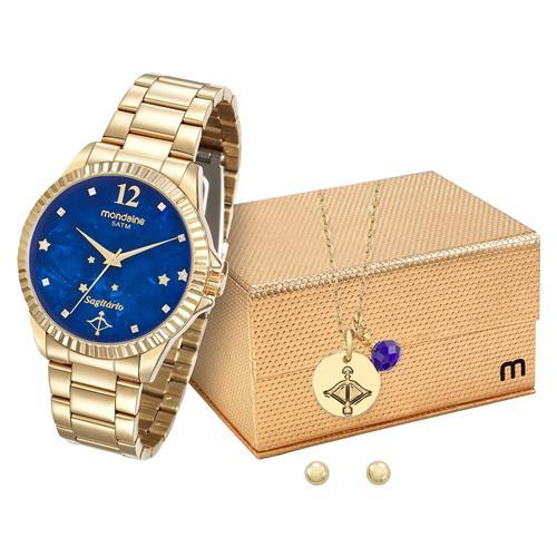 981423197db Relógio Feminino Mondaine Analógico 99129LPMKDE3K1 Dourado Sagitário