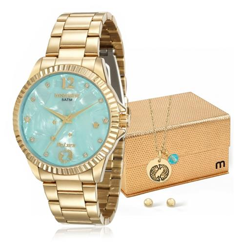 Relógio Feminino Mondaine Analógico 99129LPMKDE1K1 Dourado Peixes