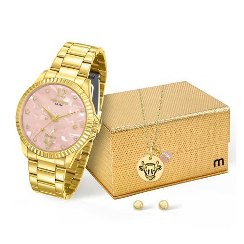 Relógio Feminino Mondaine Analógico 99128LPMKDE4K1 Dourado touro