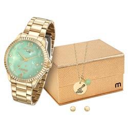 Relógio Feminino Mondaine Analógico 99128LPMKDE1K1 Dourado Aquário