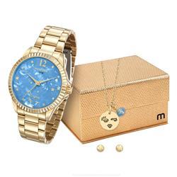 Relógio Feminino Mondaine Analógico 99128LPMKDE3K1 Dourado Virgem