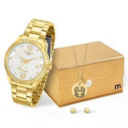 Relógio Feminino Mondaine Analógico 99129LPMKDE2K1 Dourado Câncer