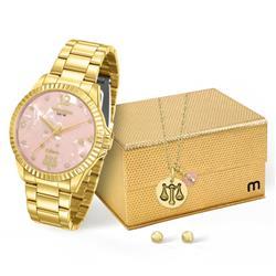 Relógio Feminino Mondaine Analógico 99128LPMKDE2K1 Dourado Libra