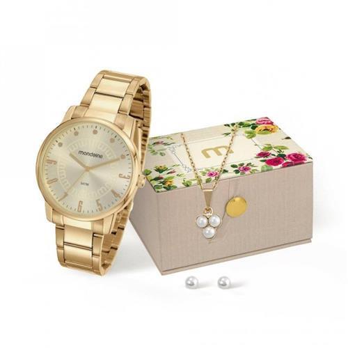 Relógio Feminino Mondaine Analógico 53576LPMVDE1K1 Dourado