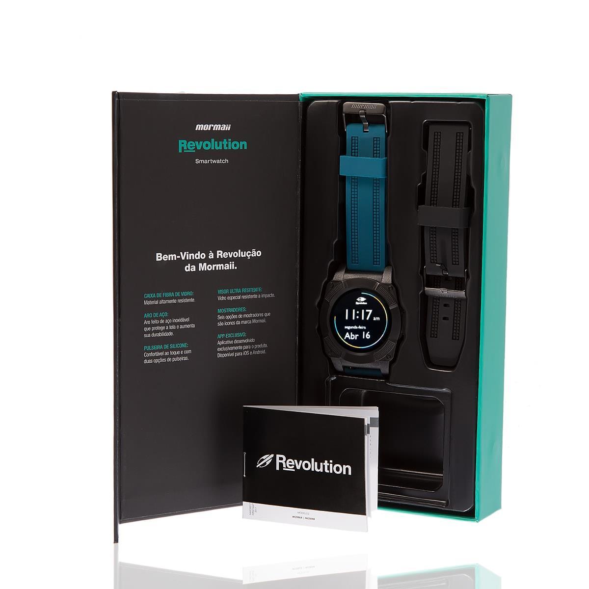 8b4f1e7204d Smartwatch Masculino Mormaii Revolution Digital MOSRAB 8P Preto
