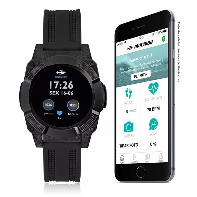 Smartwatch Masculino Mormaii Revolution Digital MOSRAB/8P ...