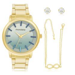 Relógio Feminino Mondaine Analógico 53545L0MVNE2K1 Aço Dourado
