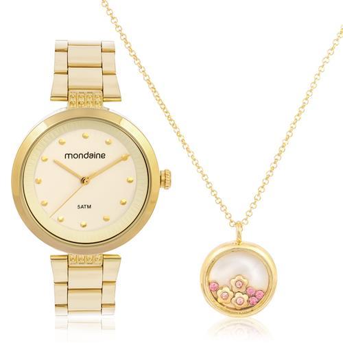Relógio Feminino Mondaine Analógico 53544LPMVDE1K1 Dourado