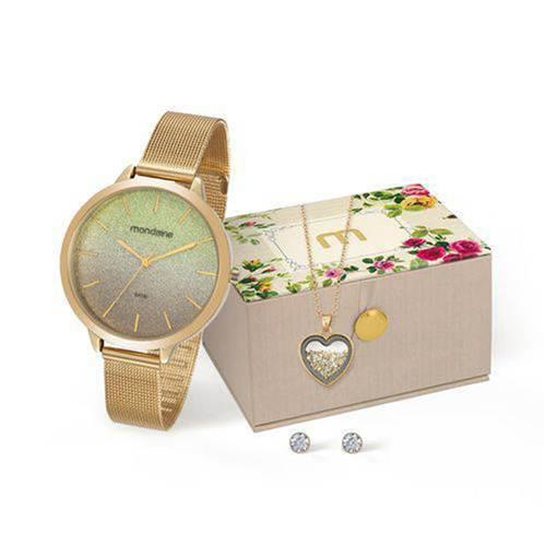 Relógio Feminino Mondaine Analógico 53618LPMKDE1K1 Dourado Degradê