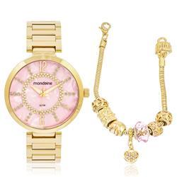 Relógio Feminino Mondaine Analógico 53617LPMKDE2K1 Dourado