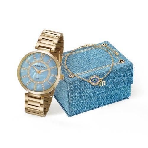 Relógio Feminino Mondaine Analógico 53617LPMKDE1K1 Dourado