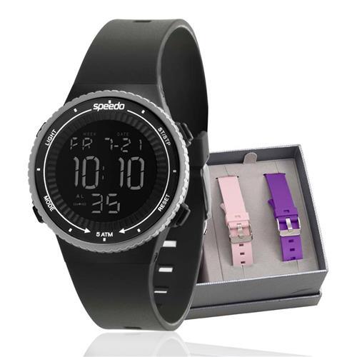 Relógio Feminino Speedo troca pulseiras digital  81161L0EVNP3 Borracha
