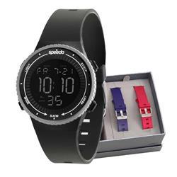 Relógio Feminino Speedo troca pulseiras digital  81161G0EVNP2 Borracha