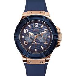 ef8d1d49f1e Relógio Masculino Guess Analógico 92479GPGSRU6 Aço rose pulseira azul