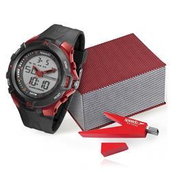 Relógio Masculino Speedo ANADIGI 81136G0EVNP1 Kit com Pen Drive